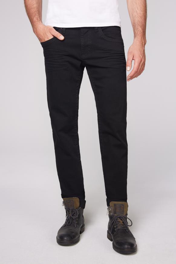 Regular Fit Jeans NI:CO mit breiten Nähten black