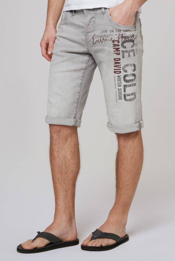 RO:BI Skater Jeans RO:BI mit Used Print grey used