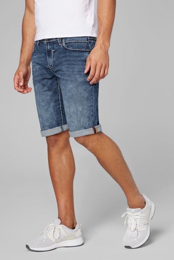 RO:BI Skater Shorts aus Jogg Denim dark blue