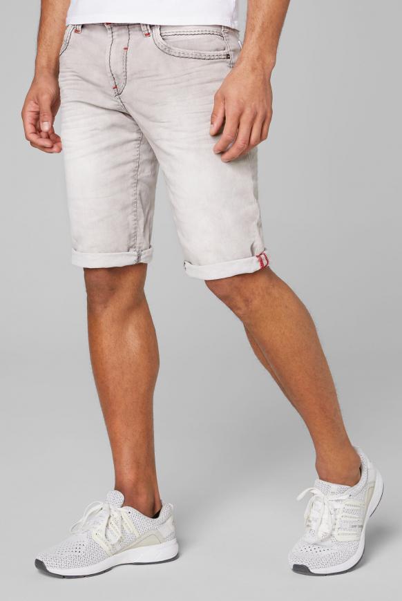 RO:BI Skater Shorts aus Jogg Denim light grey used