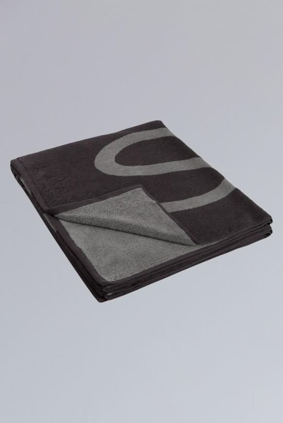 Sauna- und Badetuch aus Frottier mit Logo anthracite / grey