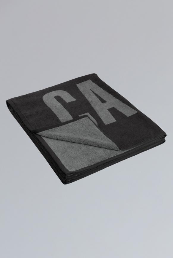 Sauna- und Badetuch mit Logo anthracite / grey