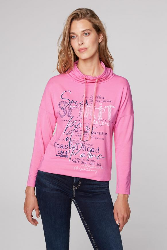 Shirt mit Artwork und hohem Kragen pink lemonade
