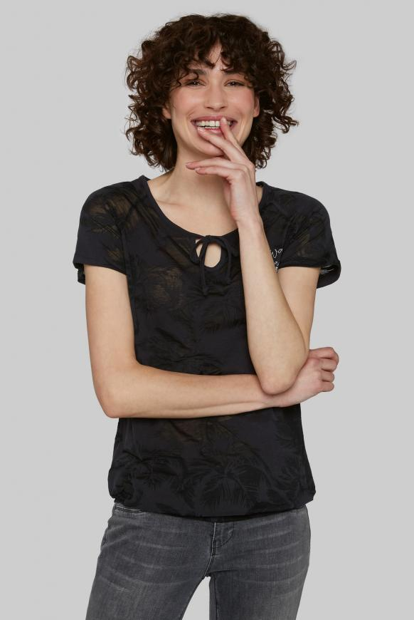 Shirt mit Ausbrenner-Muster anthra