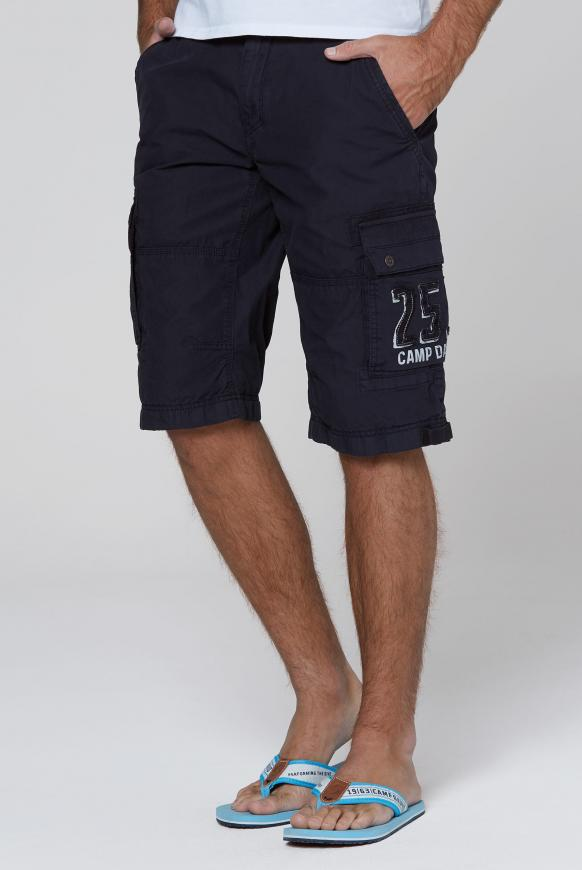 Skater Bermuda Stone Washed blue navy
