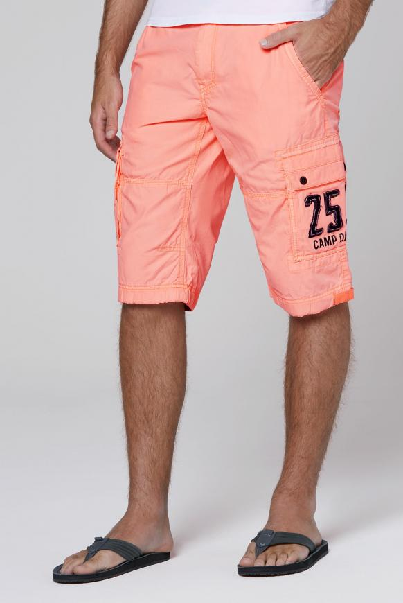 Skater Bermuda Stone Washed neon orange