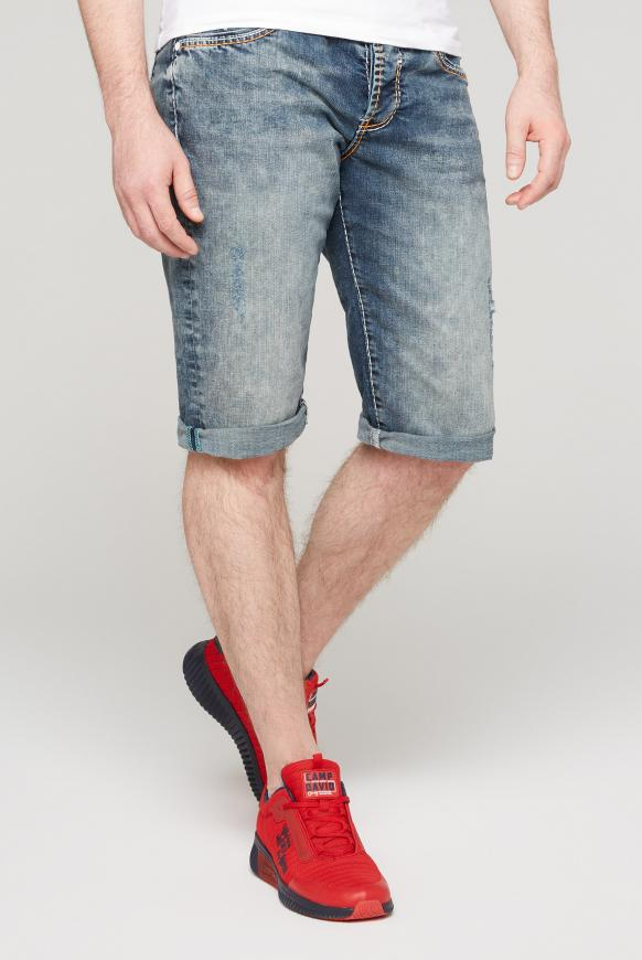Skater Jeans Shorts RO:BI mit Kontrastnähten moon blue used