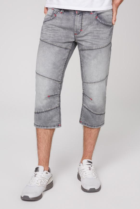 Skater Shorts HE:RY mit Used-Waschung jogg grey