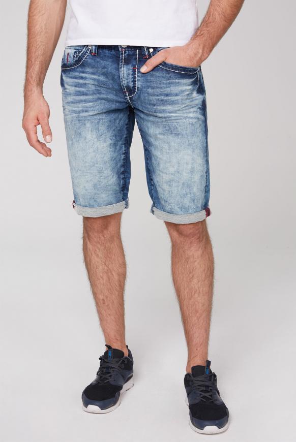 Skater Shorts RO:BI mit Used-Waschung jogg dark random