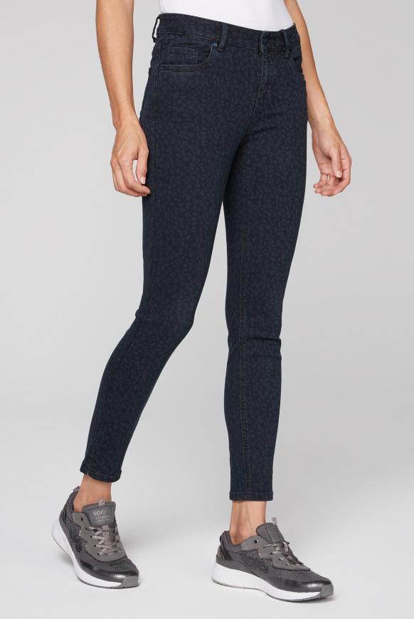 Slim Fit Jeans MI:RA mit Leo Print blue leo