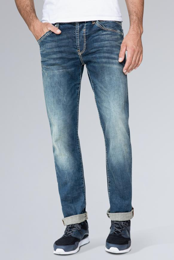 Slim Fit Jeans RO:BI mit Washed-Out-Partien vintage used