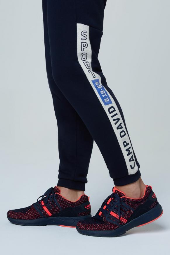 Sneaker mit Strick-Struktur und Power-Sohle thunder blue