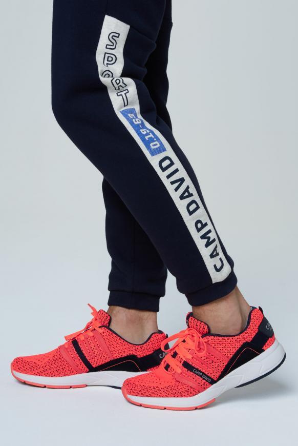 Sneaker mit Strick-Struktur und Power-Sohle neon flame
