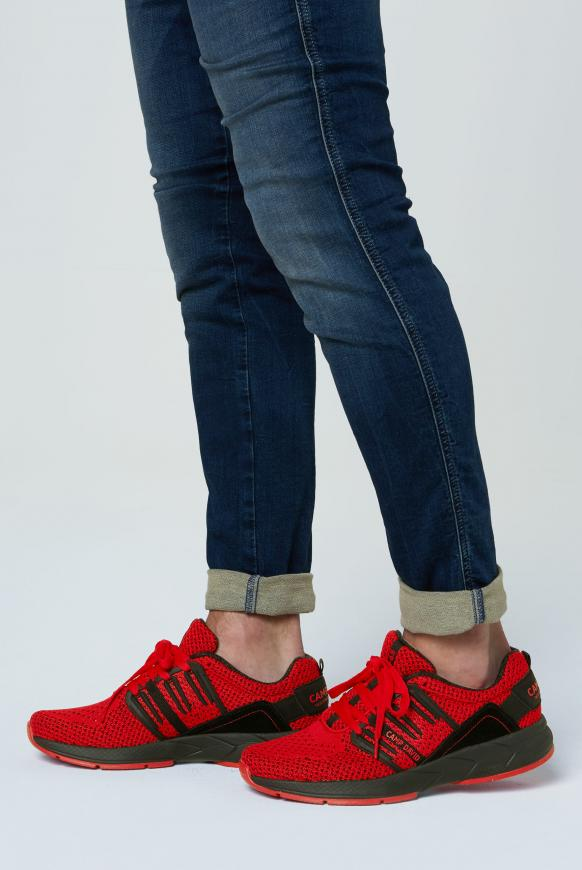 Sneaker mit Strick-Struktur und Power-Sohle red