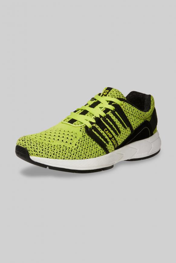 Sneaker mit Strick-Struktur und Power-Sohle lime