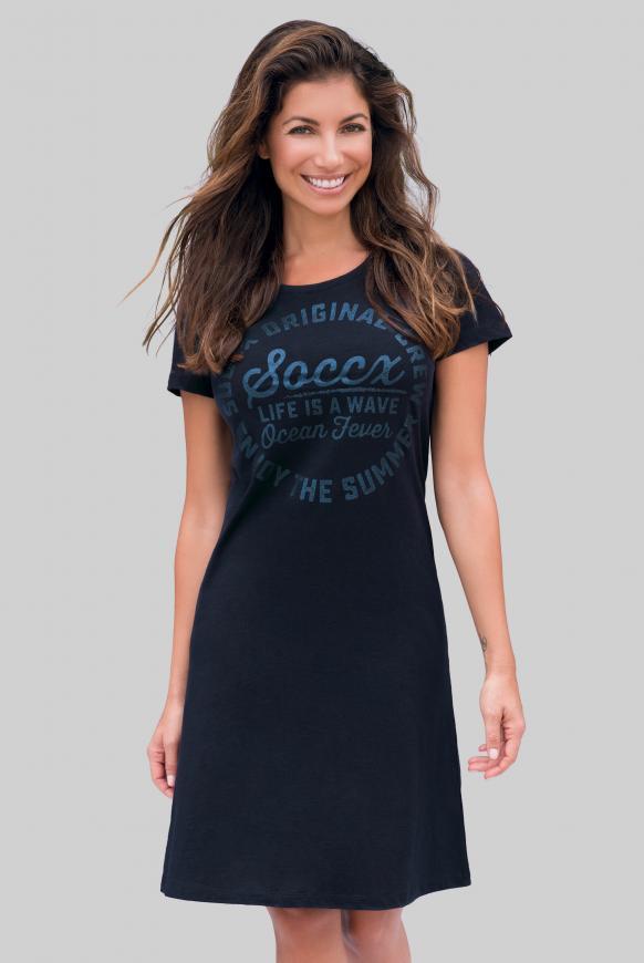 Sommerkleid mit Glitter Print blue navy