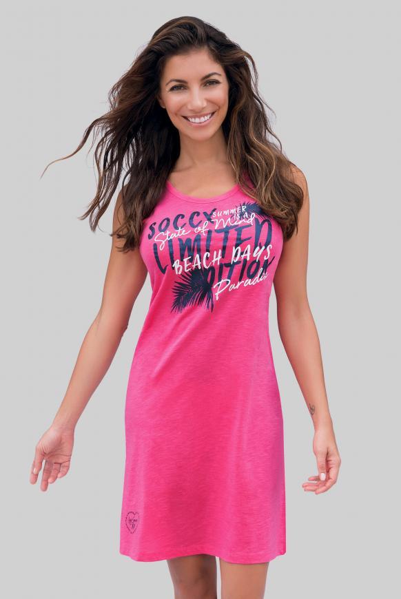 Sommerkleid mit Glitter Print oriental pink