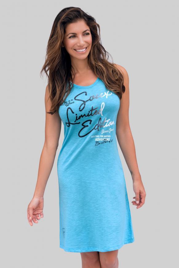 Sommerkleid mit Glitter Print summer aqua