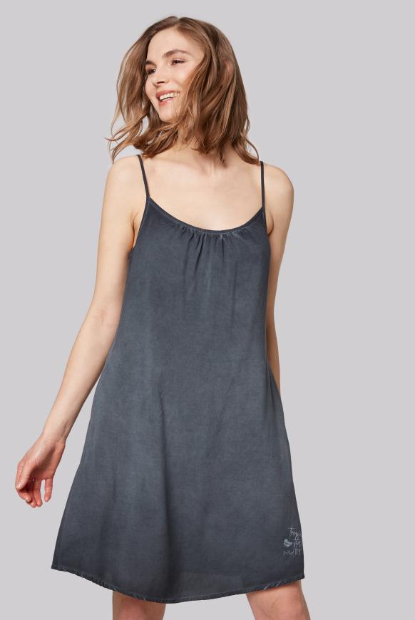 Sommerkleid mit Träger-Design am Rücken anthra