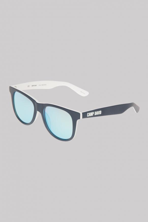 Sonnenbrille mit Vollrandfassung blue / white