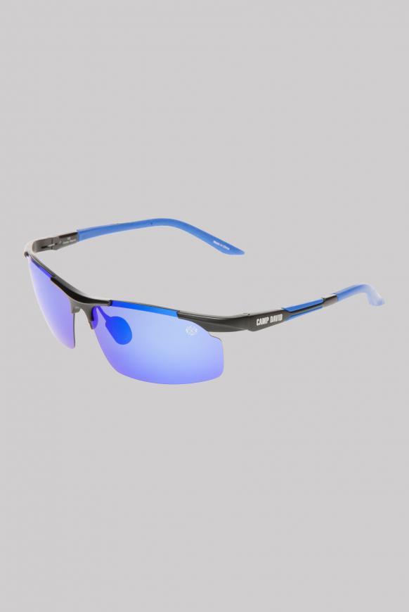 Sonnenbrille Sportstyle polarisiert black / navy / mirror