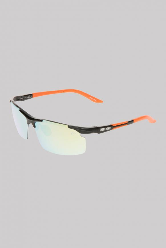 Sonnenbrille Sportstyle polarisiert black / orange / mirror