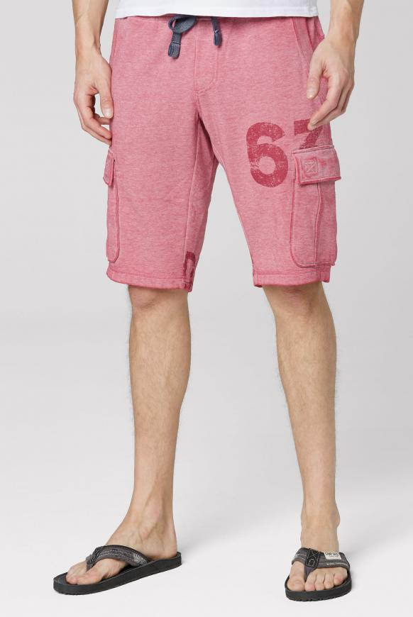 Sweat Cargo Shorts mit Ausbrennern berbere red