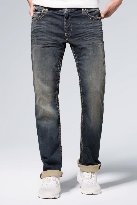 Sweatmaterial im Denim Look Jeans CO:NO blue black jogg