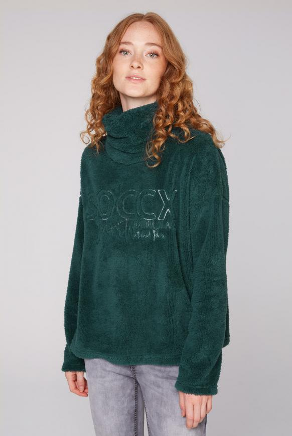 Sweatshirt aus Sherpa-Fleece arctic green
