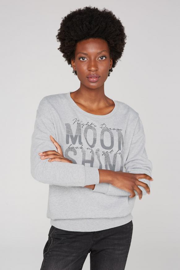 Sweatshirt mit Ausbrenner-Effekten cool grey