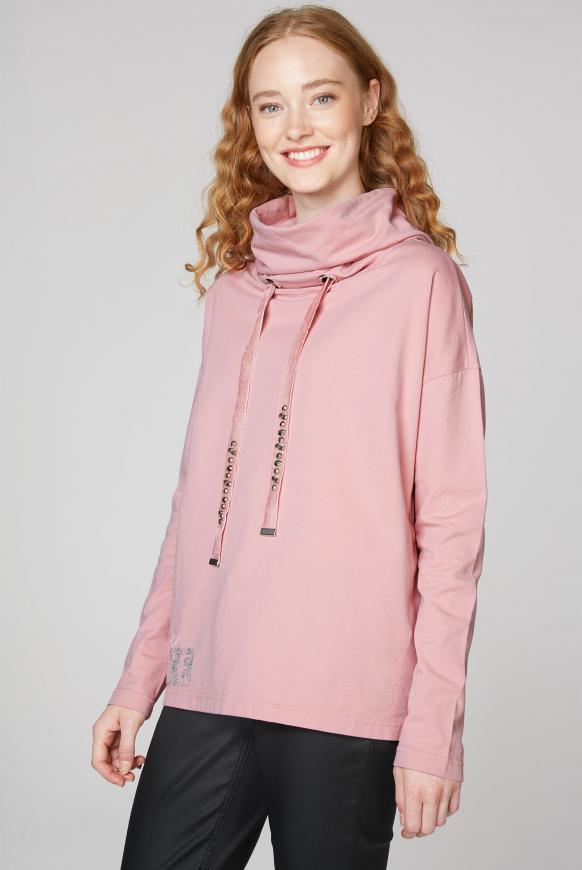 Sweatshirt mit hohem Kragen und Rücken-Artwork winter powder