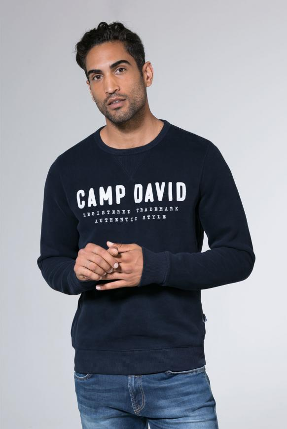 Sweatshirt mit Logo-Stickerei space navy