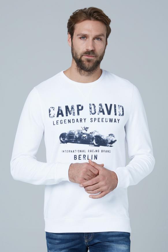 Sweatshirt mit Used Print