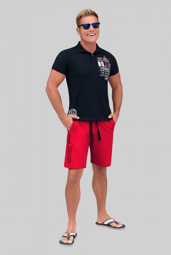 Sweatshorts mit Artworks red sun
