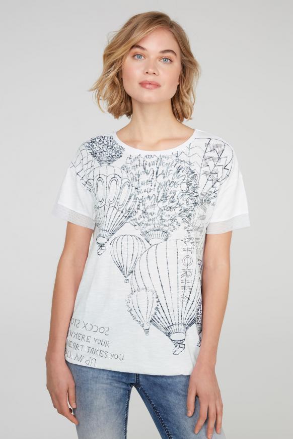 T-Shirt Loose Fit mit Artwork opticwhite