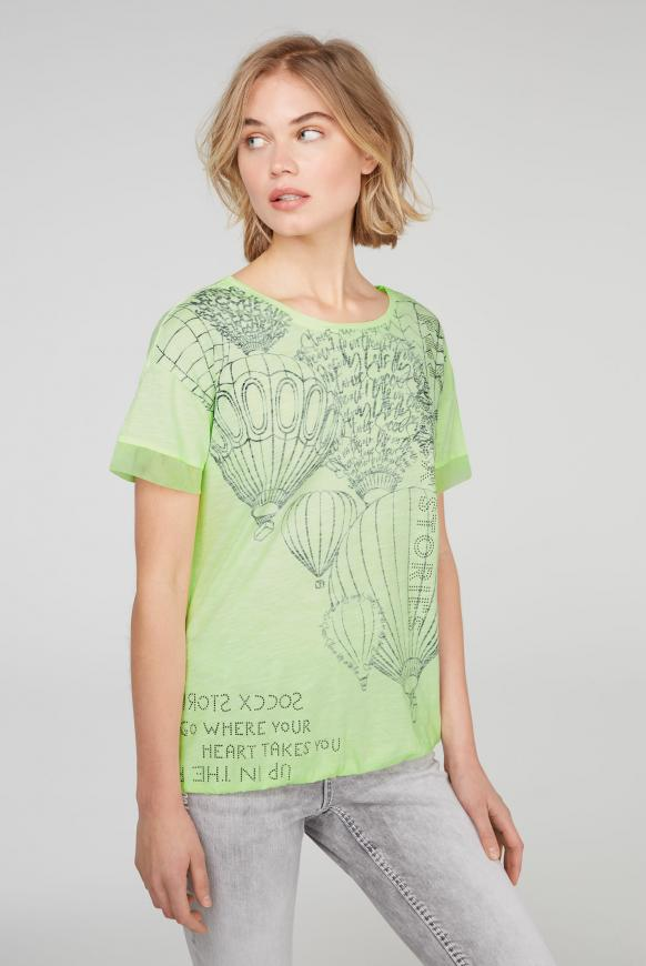T-Shirt Loose Fit mit Artwork summer lime