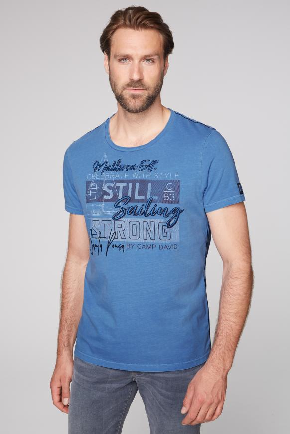 T-Shirt mit Artwork sky blue
