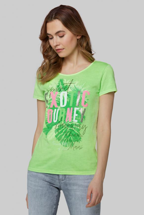 T-Shirt mit dekorativem Rücken-Design lemon drop