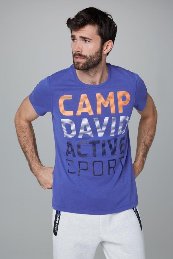 T-Shirt mit Logo Artwork action blue