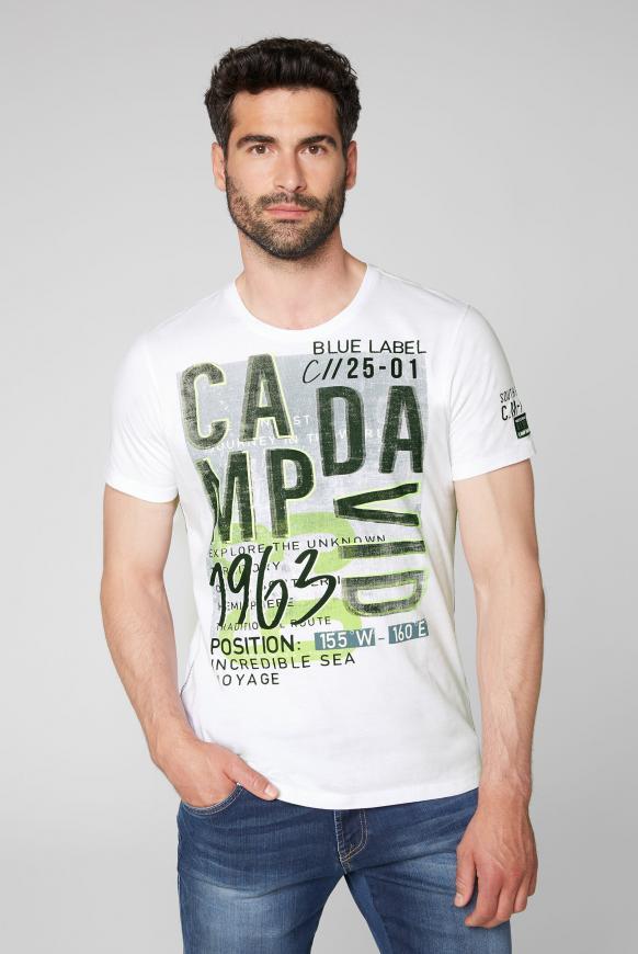 T-Shirt mit Logo Prints opticwhite