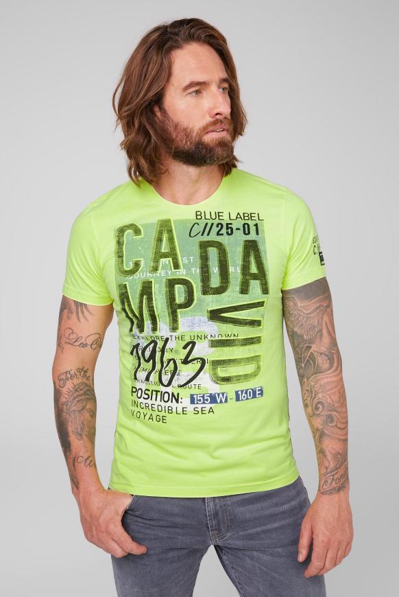 T-Shirt mit Logo Prints neon lime