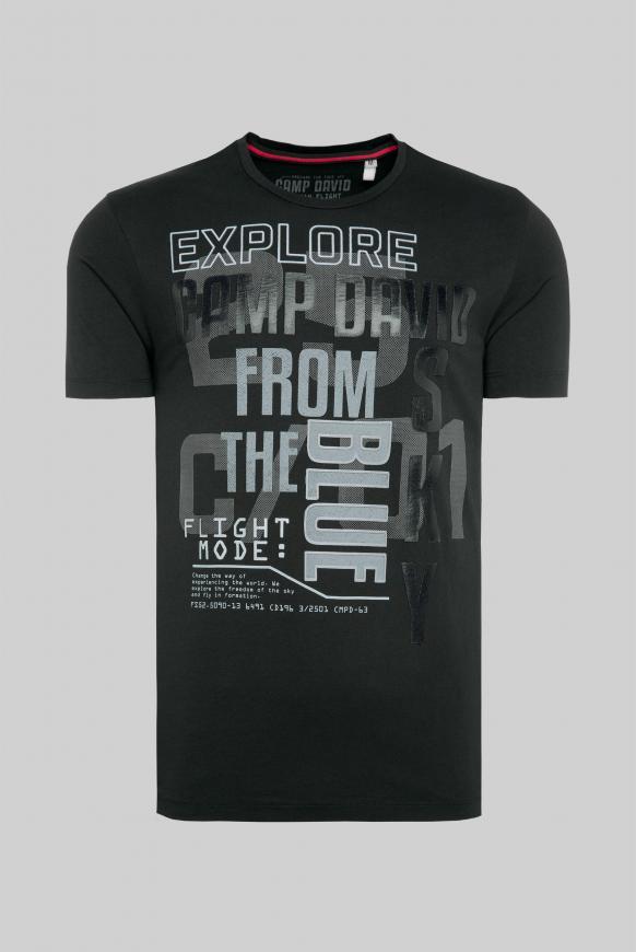 T-Shirt mit Logo Rubber Prints black