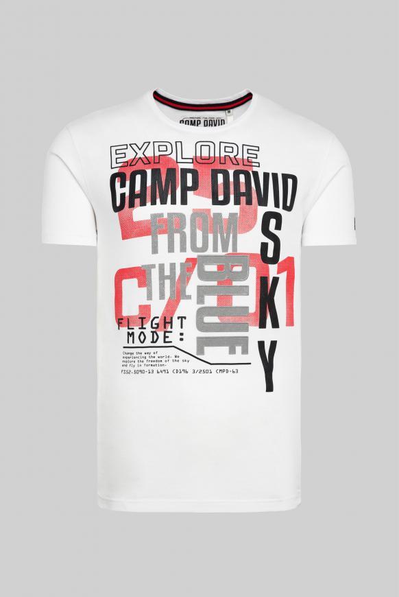 T-Shirt mit Logo Rubber Prints opticwhite