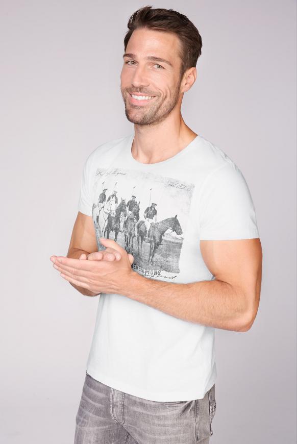 T-Shirt mit Photoprint opticwhite