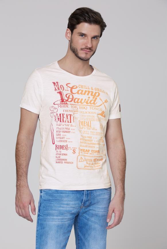 T-Shirt mit Print mit Farbverlauf opticwhite