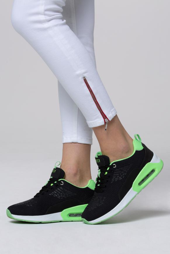 Textil-Sneaker mit Rubber-Print anthra