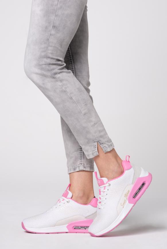 Textil-Sneaker mit Rubber-Print white