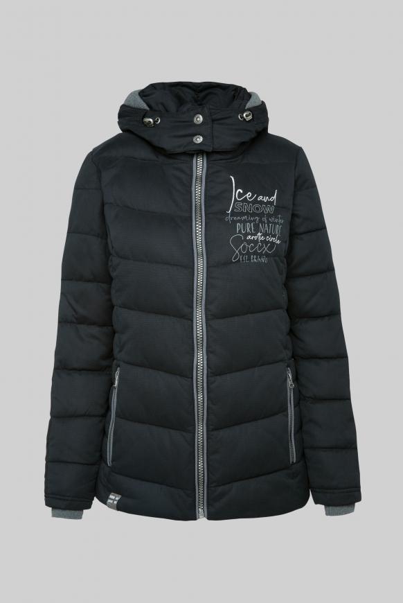 Winterjacke mit abtrennbarer Kapuze black