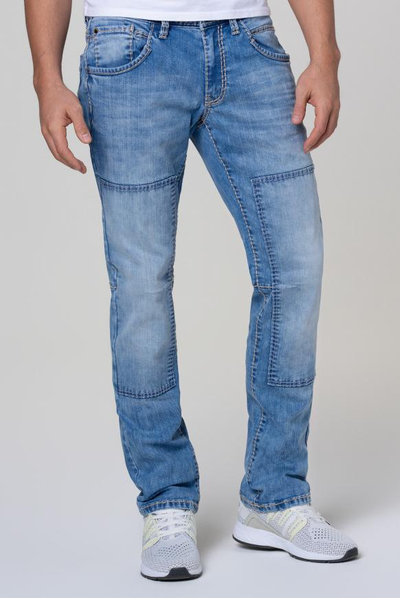 Worker Jeans WI:LL mit Patches light used