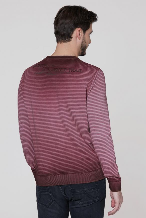 Sweatshirt mit Streifendruck und Artworks